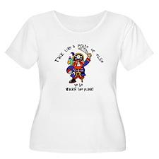 Peg Leg Pirate Plus Size T-Shirt