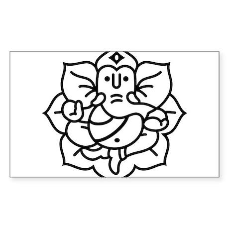 Ganesh Ganesa Ganapati 02_1c Sticker