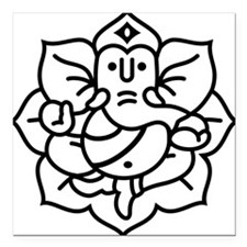 "Ganesh Ganesa Ganapati 02_1c Square Car Magnet 3"""
