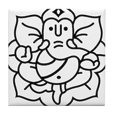Ganesh Ganesa Ganapati 02_1c Tile Coaster
