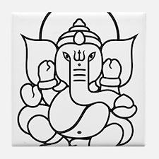 Ganesh Ganesa Ganapati 03_2c Tile Coaster