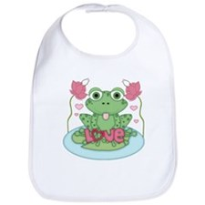 Valentine Frog with Love Bib