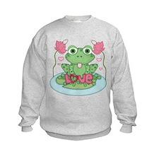 Valentine Frog with Love Sweatshirt