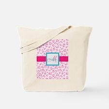 Girly Pink Monogram Tote Bag