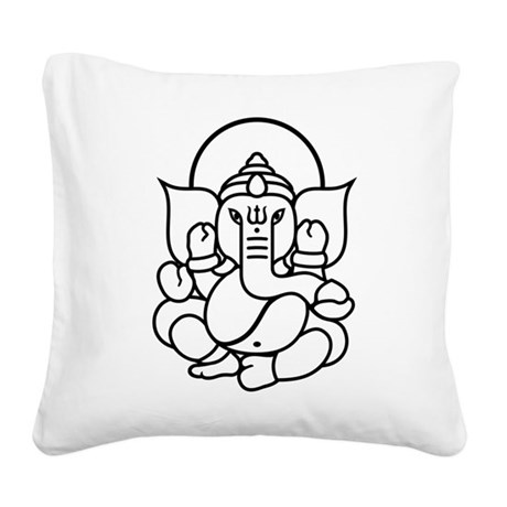 Ganesh Ganesa Ganapati 03.1_1c Square Canvas Pillo