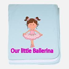 Our Little Ballerina baby blanket