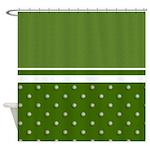 Golf Ball Pattern Shower Curtain