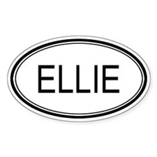 Ellie Oval Design Oval Decal
