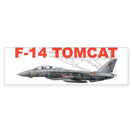 F-14 Tomcat VF-41 Black Aces Bumper Sticker