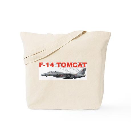 F-14 Tomcat VF-41 Black Aces Tote Bag