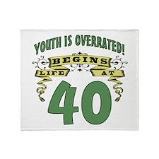 Life Begins At 40 Throw Blanket