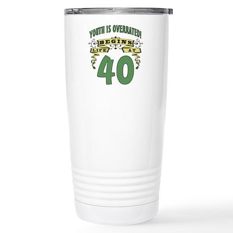 Life Begins At 40 Stainless Steel Travel Mug