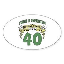 Life Begins At 40 Decal