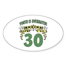 Life Begins At 30 Decal