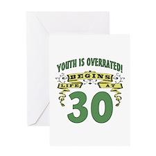 Life Begins At 30 Greeting Card