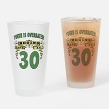 Life Begins At 30 Drinking Glass