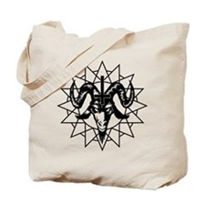 Satanic Goat Head with Chaos Star Tote Bag