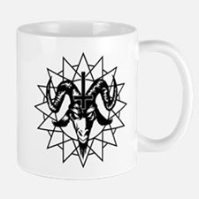 Satanic Goat Head with Chaos Star Mug