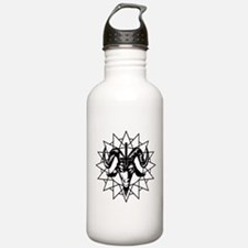 Satanic Goat Head with Chaos Star Water Bottle