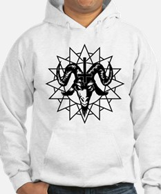 Satanic Goat Head with Chaos Star Hoodie