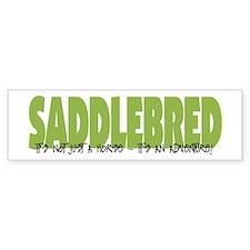 Saddlebred ADVENTURE Bumper Bumper Sticker