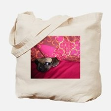 Sneaky Pug is Watching You Tote Bag