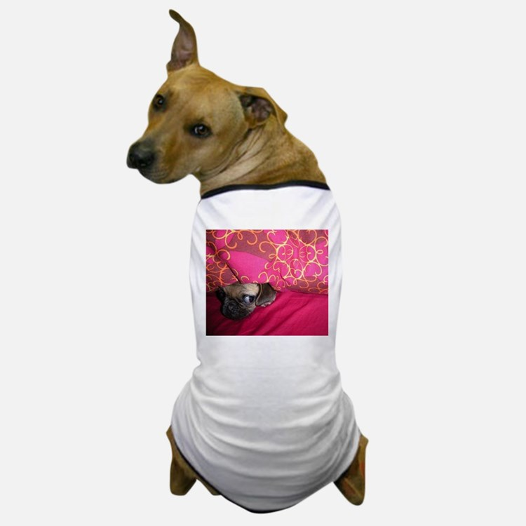 Sneaky Pug is Watching You Dog T-Shirt