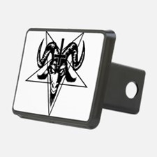 Satanic Goat Head with Pentagram Hitch Cover