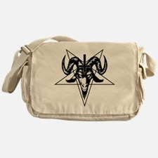 Satanic Goat Head with Pentagram Messenger Bag