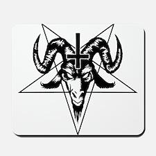 Satanic Goat Head with Pentagram Mousepad