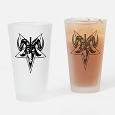 Satanic Goat Head with Pentagram Drinking Glass