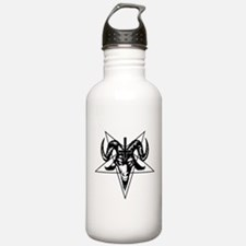Satanic Goat Head with Pentagram Water Bottle