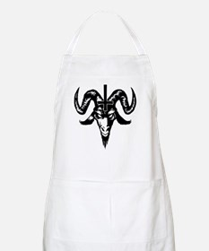 Satanic Goat Head with Cross Apron