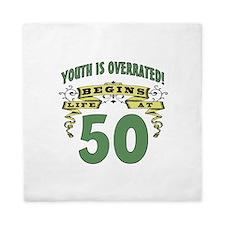 Life Begins At 50 Queen Duvet