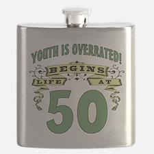 Life Begins At 50 Flask