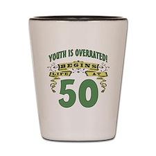 Life Begins At 50 Shot Glass
