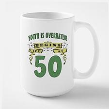 Life Begins At 50 Large Mug
