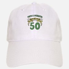 Life Begins At 50 Baseball Baseball Cap