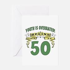 Life Begins At 50 Greeting Card