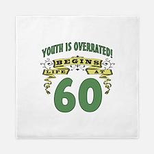 Life Begins At 60 Queen Duvet