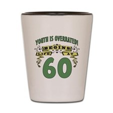 Life Begins At 60 Shot Glass