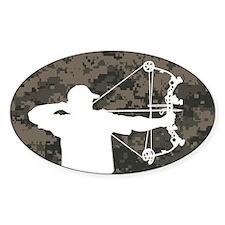 Bow Hunter (camo version) Bumper Stickers