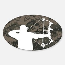 Bow Hunter (camo version) Bumper Stickers
