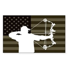 Bow Hunter (subdued flag version) Bumper Stickers