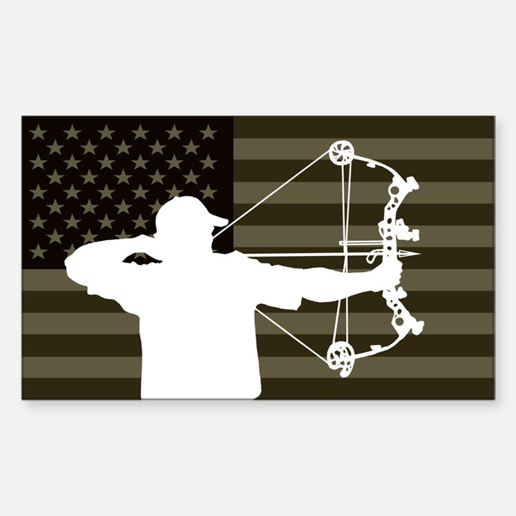 Bow Hunter (subdued flag version) Decal
