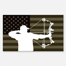 Bow Hunter (subdued flag version) Stickers