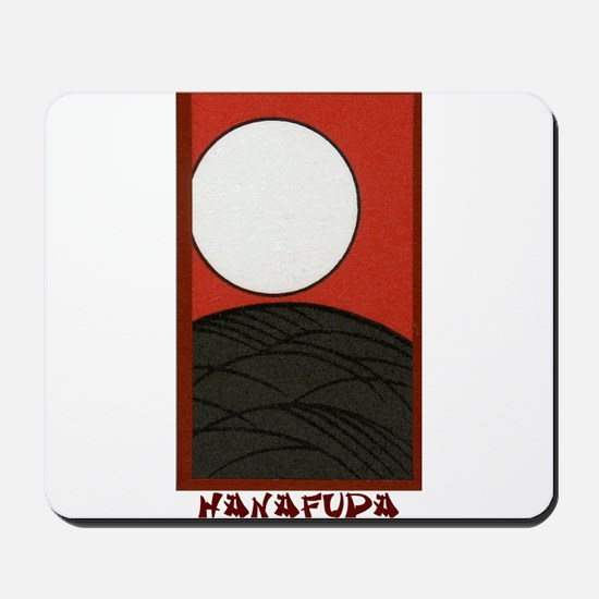 Hanafuda August Pampas with Full Moon Mousepad