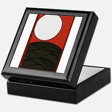 Hanafuda August Pampas with Full Moon Keepsake Box