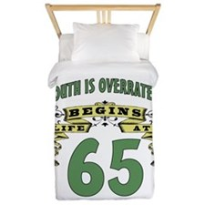 Life Begins At 65 Twin Duvet
