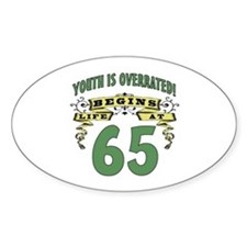 Life Begins At 65 Decal
